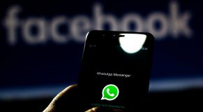 BRAZIL - 2019/09/11: In this photo illustration the WhatsApp and Facebook logo is seen displayed on a smartphone. (Photo Illustration by Rafael Henrique/SOPA Images/LightRocket via Getty Images)